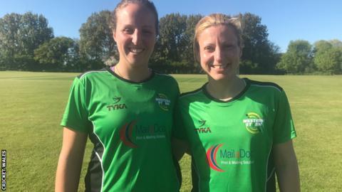 Lauren Parfitt (left) with Claire Thomas (right)