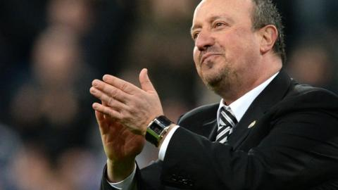 Newcastle manager Rafael Benitez