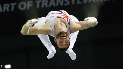 James Hall in action for GB