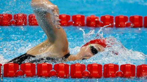Swimming: Ledecky leads the way in 800m freestyle heats