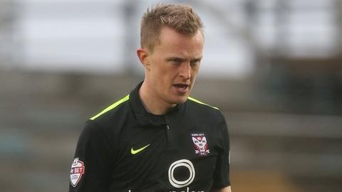 Burnley right-back Luke Hendrie in action for York City