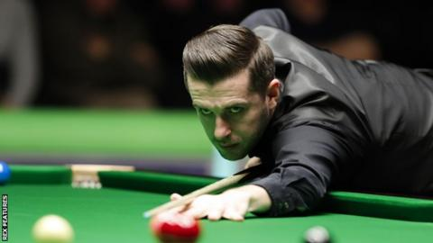 World number one Mark Selby plays a shot at the UK Championship