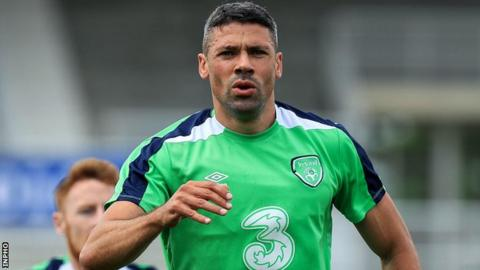 Jonathan Walters during Republic of Ireland training on Saturday