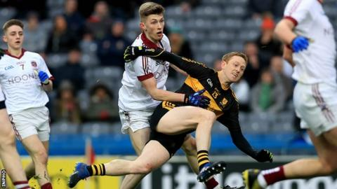 Colm Cooper fires in the Dr Crokes goal in the first half