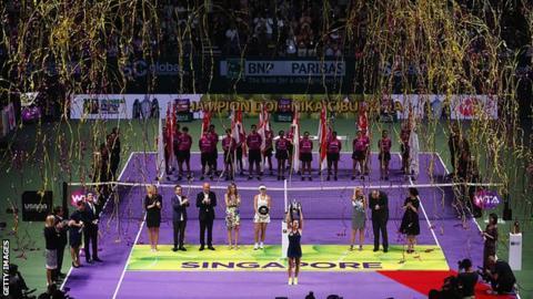 Dominika Cibulkova wins WTA Finals