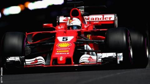 Vettel sets fastest ever lap at Monaco