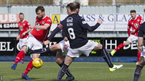 Rory Loy scores the opening goal for St Mirren against Falkirk