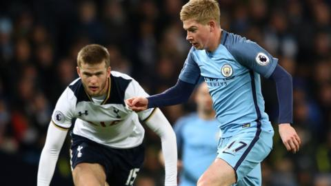 Kevin De Bruyne and Eric Dier