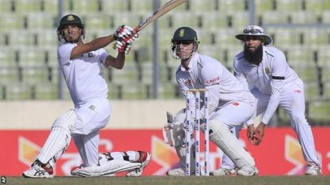 Bangladesh are on the verge of drawing a two-Test series against South Africa