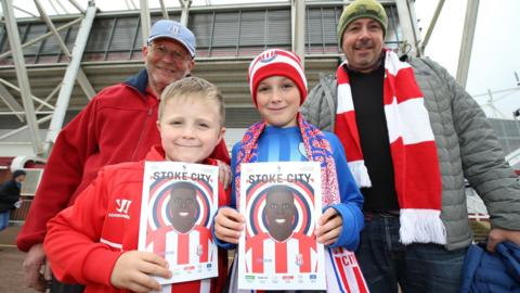 Stoke City supporters before their game against Chelsea