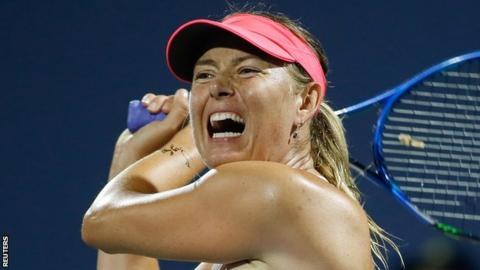 Maria Sharapova wins her opening match at Bank of the West