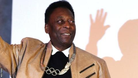 Pele was awarded the Olympic Order last month