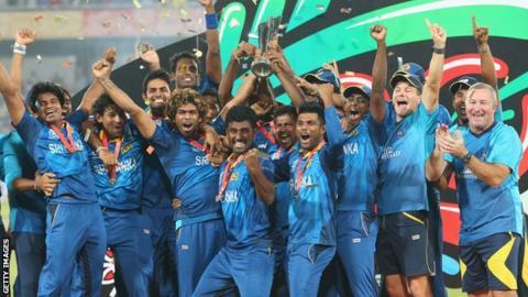 Sri Lanka celebrate winning the World Twenty20 in 2014