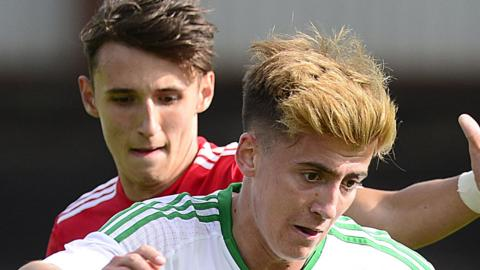 Manchester United's Under-18s led 1-0 at half-time against Northern Ireland