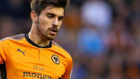 Wolves midfielder Ruben Neves