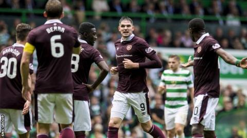 Hearts opened their Premiership campaign with a 4-1 loss at champions Celtic