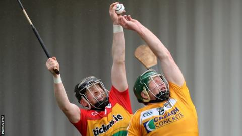 Carlow's Paul Doyle and Antrim's Niall McKenna