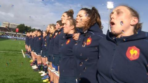 France players sing anthem