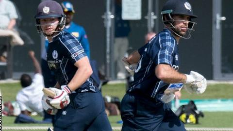 Kyle Coetzer (right) and Matthew Cross both made centuries in Beckenham