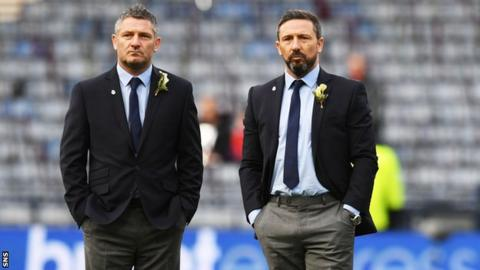 Derek McInnes (right) and his assistant Tony Docherty