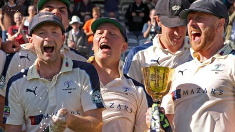 Yorkshire celebrate county championship