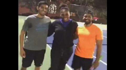 Serena Williams challenges strangers