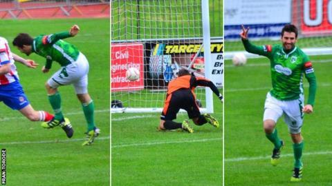 Ross Allen scores 200th Guernsey FC goal