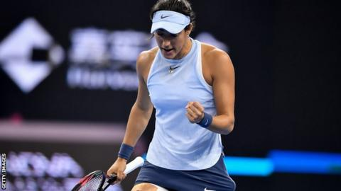 garcia wins in china to keep konta waiting bbc sport. Black Bedroom Furniture Sets. Home Design Ideas