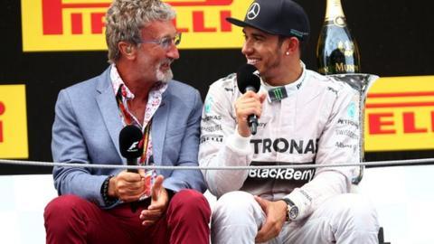 Eddie Jordan speaking to Lewis Hamilton