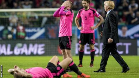 Scotland were overtaken by Slovakia on goal difference on the final round of qualifying