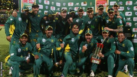 South Africa celebrate historic win
