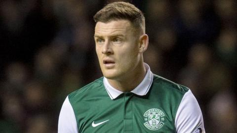 Hibernian striker Anthony Stokes