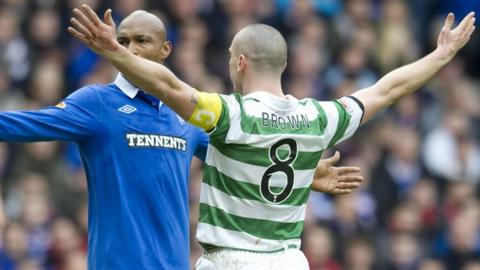 El-Hadji Diouf (left) and Scott Brown