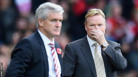 Mark Hughes and Ronald Koeman