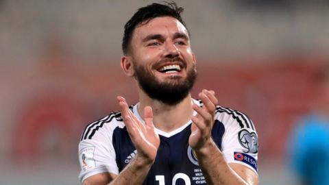 Scotland's Robert Snodgrass celebrates