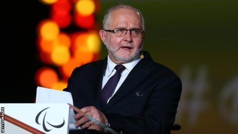 International Paralympic Committee president Sir Philip Craven