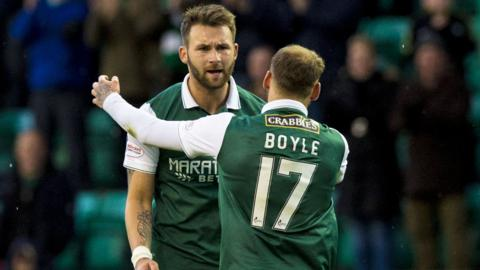 Hibs are now level on points with Falkirk