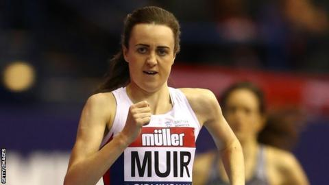 Form Laura Muir remains on track for double gold in Belgrade