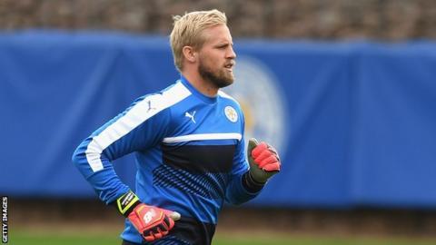 Leicester City keeper Kasper Scmeichel