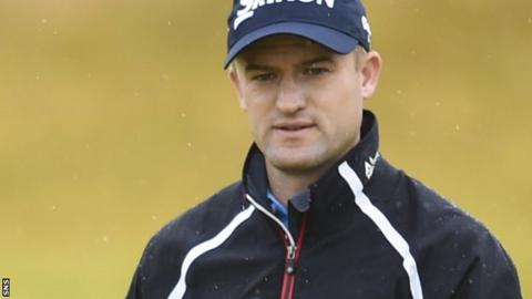 Russell Knox takes stock during the Scottish Open