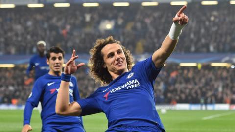 David Luiz celebrates