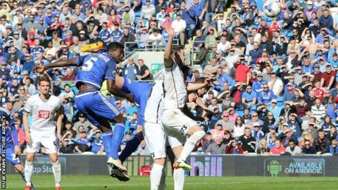 Bruno Ecuele Manga heads Cardiff in front