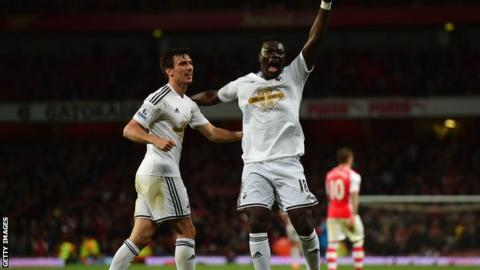 Bafetimbi Gomis scored the winner for Swansea in this fixture last season.