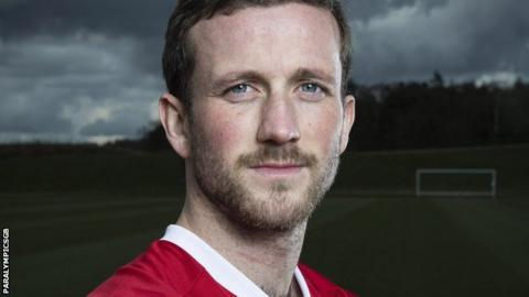 Sean Highdale is part of the British Paralympic team's seven-a-side football squad