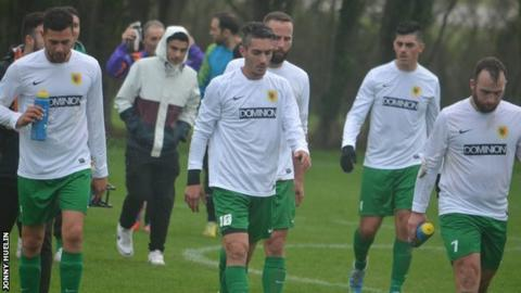 Portuguese Club walk off