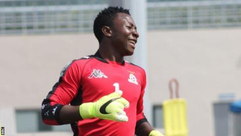 Zambia under-20 goalkeeper Mangani Banda