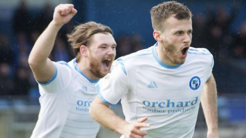 Forfar were too strong for Peterhead at Balmoor