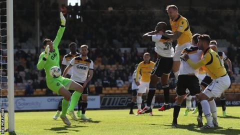 Bolton's David Wheater scores against Port Vale