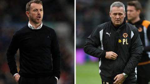 Paul Lambert (right) had the upper hand when he last came up against Gary Rowett in Wolves' 3-1 win against Birmingham City at St Andrew's in August