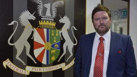 Portadown manager Niall Currie